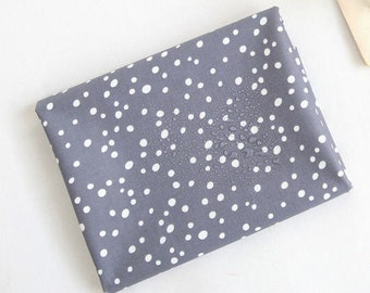 Laminated Cotton Fabric - Simple Bubbles in Grey - By the Yard - 94368