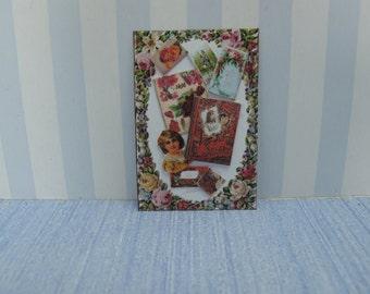 Dollhouse Exhibitor play scrap for shops or children's roomsscrapbook ,romantic  children book handmade, display nursery