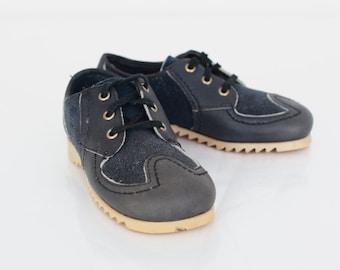 Vintage Kid's Shoes / Vintage Child's Shoes / Kids Black Shoes / Kids 1970s Shoes / Kids Shoes US Size 10