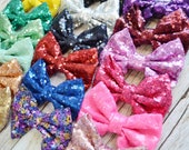 "XL Sequin Bow, 5"" hair bow, wholesale bows, sparkle bows, DIY bow headband, headband supply, sequin hair bows, fabric bows, diy bow"
