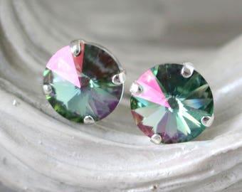 Lemon Sapphire | Swarovski Crystals | Stud Earrings | Sapphire Blue Studs | Blue Sapphire Earrings | Wedding | Something Blue | Gift For Her
