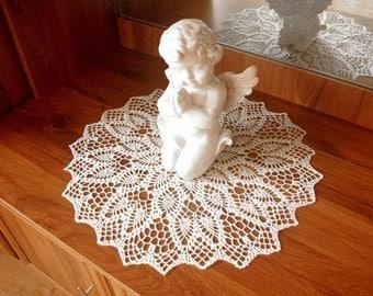 Large lace doily White elegant crochet doilies Table decoration Pineapple crochet centerpiece Large crochet doily Crochet decoration 332