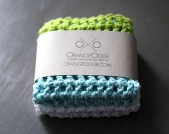Cotton Crochet Dishcloths, Bright Kitchen Accessories, Colorful dish cloths. Dish Cloth Crochet Wash Rag Housewarming DIY Gift Hostess Gift.