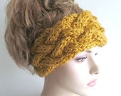 Instant Download PDF Knitting Pattern Braided Cable Headband Chunky Ear Warmer Fall Winter Boho Accessories Headcovers Womens Girls Headwrap