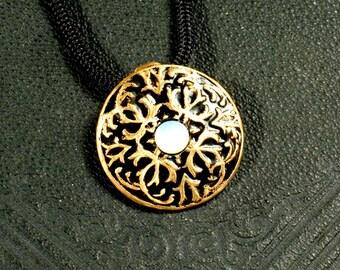 Bronze, medieval, Viking, Opalite pendant