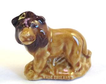 Wade Whimsie: Lion Figurine - 1973 - Wade Figurines - Wades - Wade Collectables - Wade Lion - Whimsie Lion - Wade Collectables