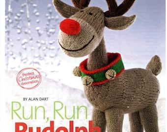 VERY RARE! Alan Dart Rudolph Reindeer Knitting Pattern Knit Christmas Stuff Toy -ORIGINAL Holiday gift