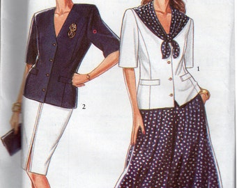 "FF 90s Slim Skirt &  Coulottes Vintage Sewing Pattern [New Look 6513] Size 6-18, Bust 30.5 to 40"", UNCUT"