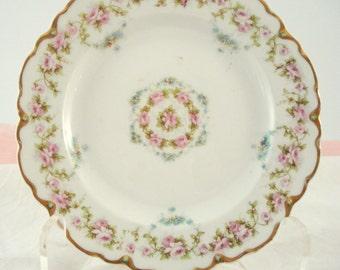 Vintage Haviland Limoges China France Dessert Plate Bread Butter Plate 1900s Shabby Cottage Chic Vintage Wedding