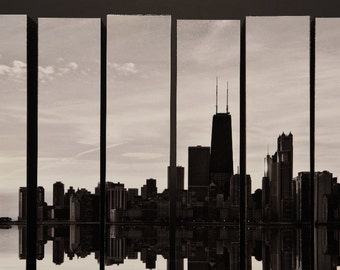 Urban Jungle, Chicago Skyline, Chicago,Ilinois, McArthurs Vertical Wood Blocks