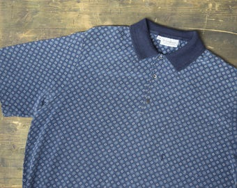 Yves Saint Laurent Vintage Patterned Polo