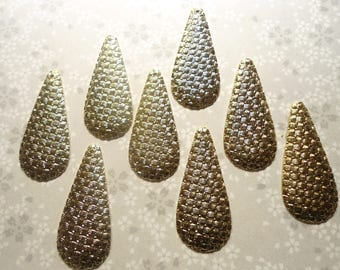 8 Goldplated Teardrop Earring Pendants