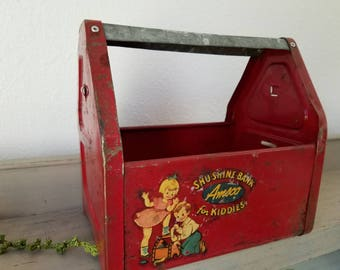SHU SHINE BANK Amsco for kiddies Galvanized Metal Handle Planter Box