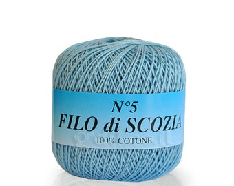 Natural cotton thread  size 10 - FILO DI SCOZIA 50g-226m , mercerized cotton yarn size 10