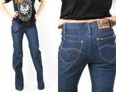 Vintage Lee Navy Blue Jeans Size 29 x 36