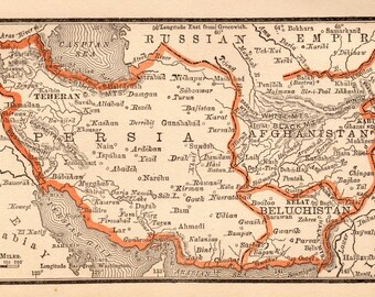 Map of persia   Etsy
