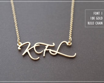 Initial name necklace-Personalized Name Necklace-Custom Name Necklace-Your Name Necklace-Bridesmaids Jewelry-Birthday Gift.