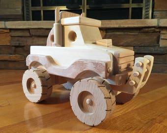 Handmade Wooden Monster Truck Toy