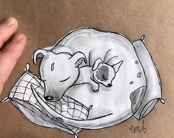 Sleeping Pups (Original)