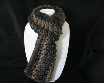 Charcoal and taupe Infinity scarf