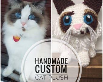 Custom Cat Plush - Cat Lover Gift - Pet Owner Gift - Cat Owner Present - Cat Lady Gift -Custom Cat