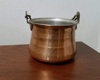 Hammered Copper Pot / Cauldron