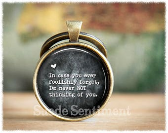 Long Distance Relationship • Boyfriend Keychain • Mens Gift  • Anniversary Gifts For Men • Boyfriend Gifts