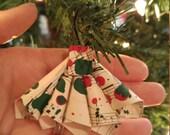 Sheet Music Fan Ornament - Vintage Sheet Music - Christmas Ornament - Music Piano Ornament - Gifts Under 10 - Gift for Musician