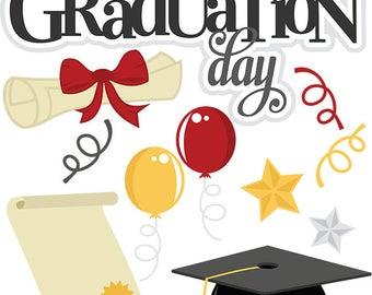 Scrapbook die cuts, Graduation scrapbook die cuts, Die cuts, High school Graduation, Scrapbook embellishment, graduation card making