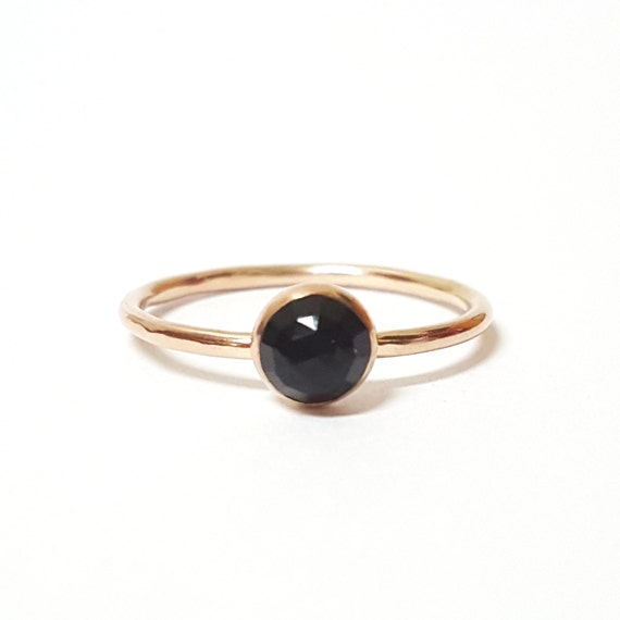 Gold Stacking Ring - Choose your Stone - Moonstone - Turquoise - Onyx - Pyrite -  14/20 Gold Fill - Minimal Dainty