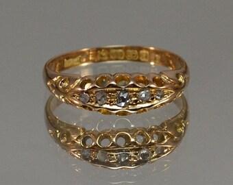 DEADsy LAST GASP SALE Antique Diamond Engagement Ring // 1800s Diamond Ring // Antique Diamond Wedding Band // English Ring + Ancient Uncut