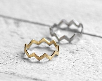 CHEVRON Ring with Chevron | gold