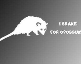 I Brake for Opossums