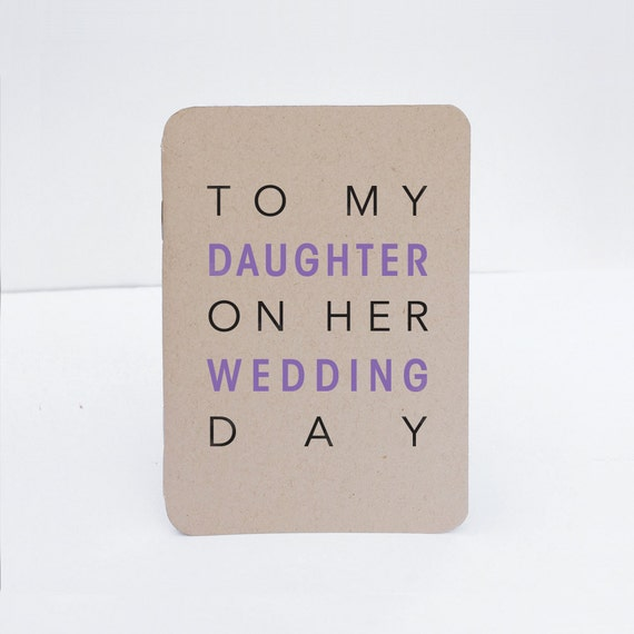 Gift To My Daughter On Her Wedding Day Book Heartfelt