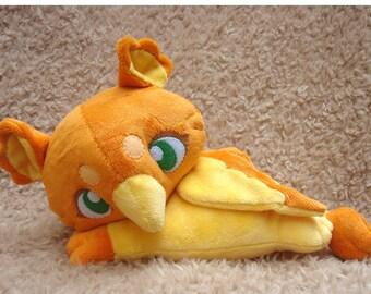 Orange Baby Griffin Plush Doll