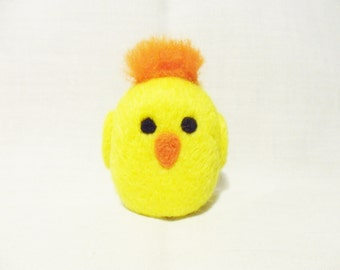 Needle Felted Chick -  miniature chick figure - 100% merino wool - wool felt chick - Easter chick