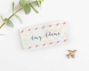 Travel Collection - Map Folded Wedding Place Card