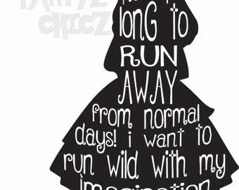 Alice in Wonderland ***Digital Item Only*** Clipart digital download svg, png, dxf, eps, pdf
