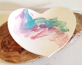 Beautiful Handmade Cermaic Heart Dish Studio Artisan Pottery