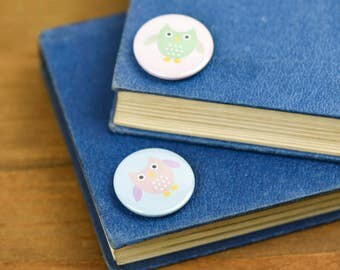 Cute sweet Owl Pin Badge Button pack