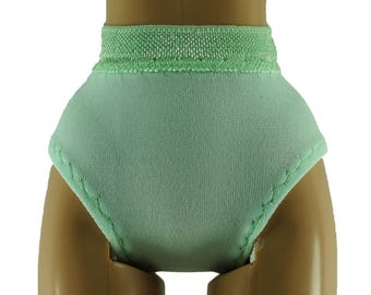 "Doll Panties for 28"" Barbie  - Pastel Green - Doll Clothes"