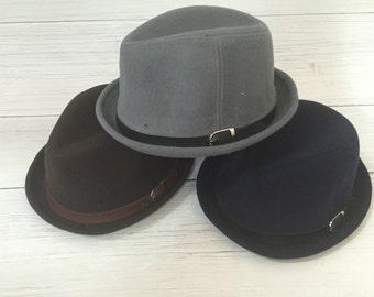 Ladies Monogrammed Wool Fedora, Winter Hat, Wool Hat, Monogram Fedora