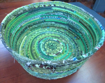 Large Green Coiled Basket