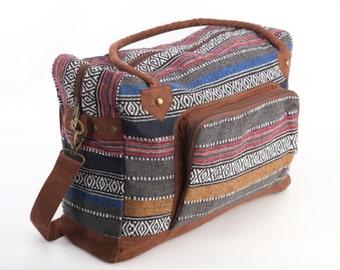 Mexican One-night bag, Weekender Bag, Boho Hippie Large Shoulder Bag, Travel Bag