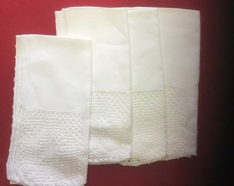 Vintage Linen and Crocheted Napkins