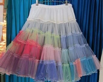 Vintage Rainbow Petticoat