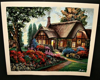 Anatoly Metlan Limited Edition Serigraph titled Country House Signed Numbered