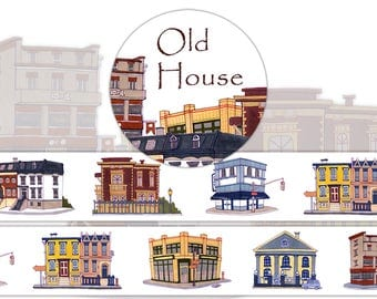 1 Roll of Limited Edition Washi Tape:  Old House