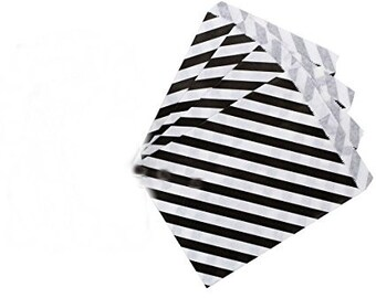 candy bags (Pack of 100); Favor Bags; Party Bags; Black and White Favor Bags