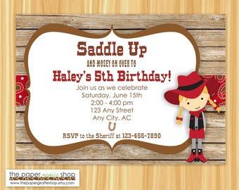 Cowgirl Invitation | Cowboy Birthday | Cowgirl Birthday Party Invitation | Cowgirl Party | Western Birthday Party